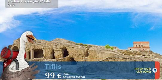 Thy türk hava yolları tiflis uçak bileti 99 € dan başlayan